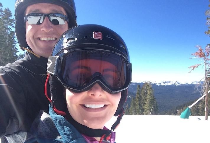Fore Property Co.'s Jim Sullivan skiing with his wife