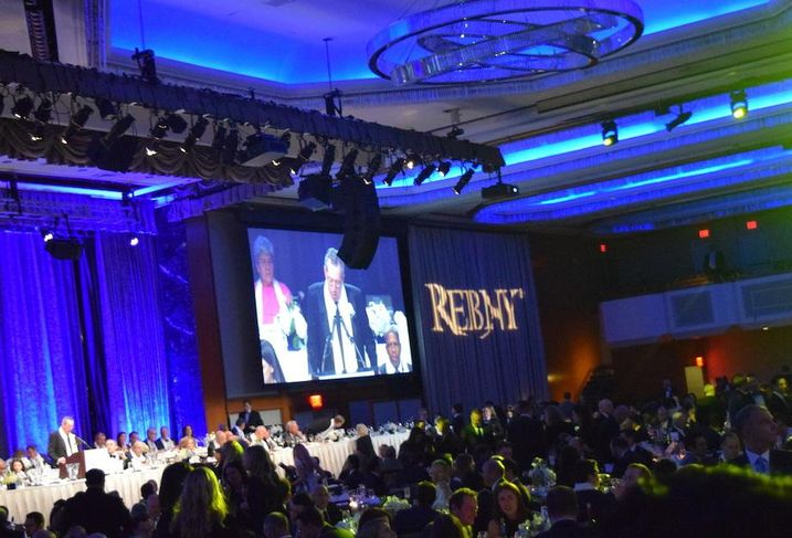 Like in years past, the 124th REBNY banquet was held in the Grand Hyatt hotel in Midtown Manhattan