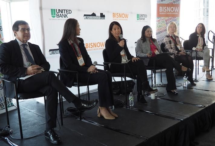 The Meridian Group's Gary Block, Federal Realty's Deirdre Johnson, Kettler's Catherine Moy, Baker Tilly's Monica Modi Dalwadi, Mather LifeWays' Gale Morgan and Washington Property Co.'s Janel Kausner