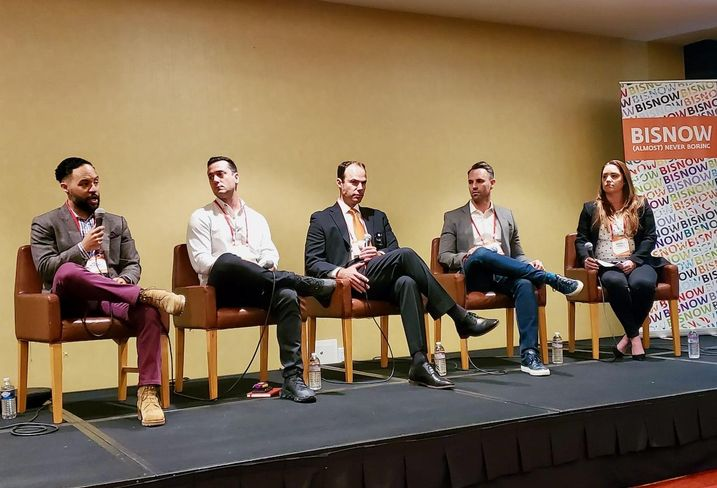 Oak Investment Funds' Erik Murray, Medmen's Chris Ganan, Southern California Coalition's Adam Spiker, Streetsenses' Zach Tindell and Sheppard Mullin's Whitney Hodges discuss the state of cannabis at Bisnow's The SoCal Cannabis CRE Evolution in Los Angelesat the LA Grand Hotel Downtown in downtown Los Angeles