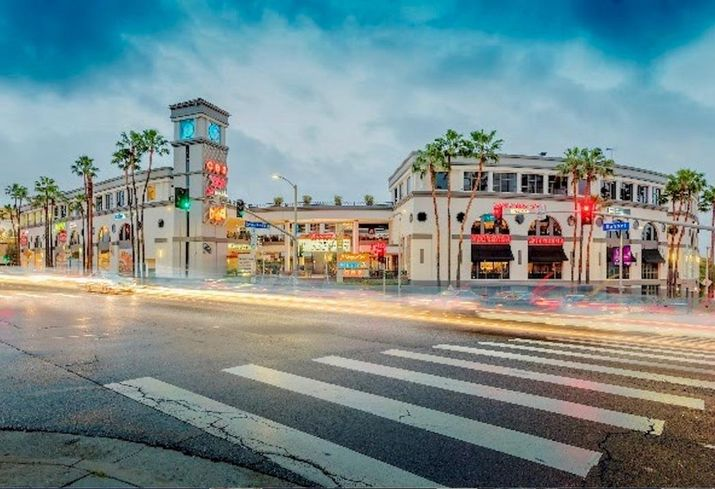 8000 Sunset Strip Shopping Center at 8000 Sunset Blvd. in Los Angeles