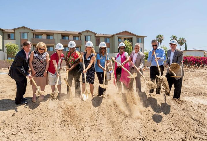 Anaheim city officials and Innovative Housing Opportunities break ground on a new 54-unit affordable housing development in Anaheim.