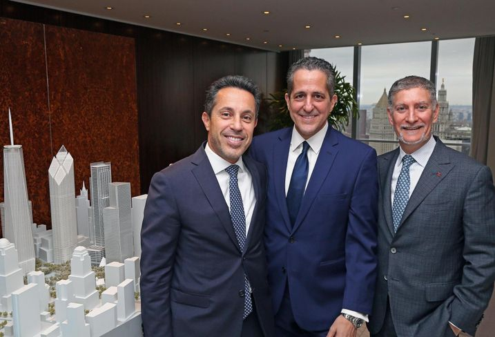 Silverstein Properties' Tal Kerret, Dino Fusco and Marty Burger at the firm's 7 World Trade Center office.