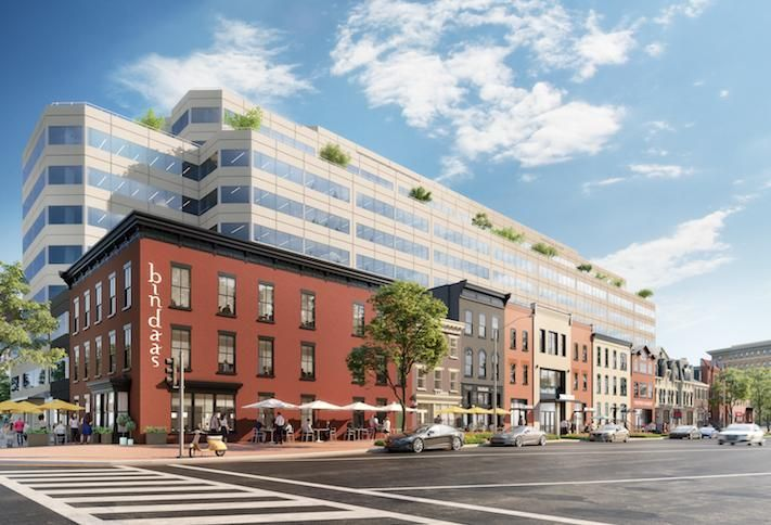 A rendering of the 2000 Pennsylvania Ave. NW redevelopment.
