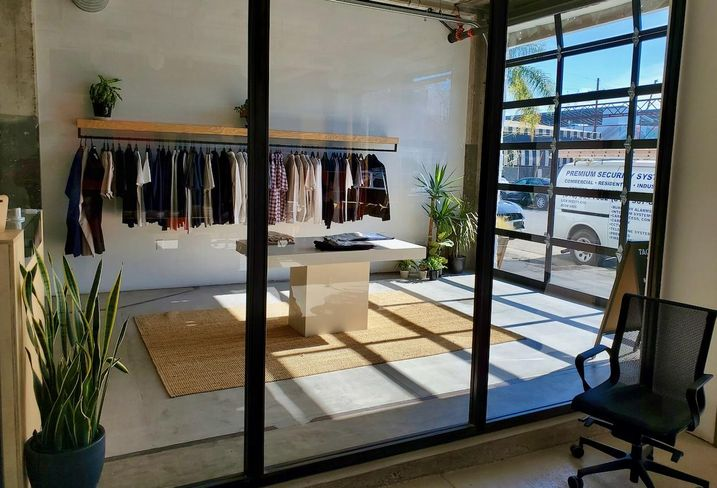 A clothing store inside Union Cowork in the Arts District neighborhood in downtown Los Angeles