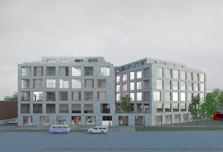 A rendering of Neighborhood Development Co.'s. project at 1100 Eastern Ave. NE