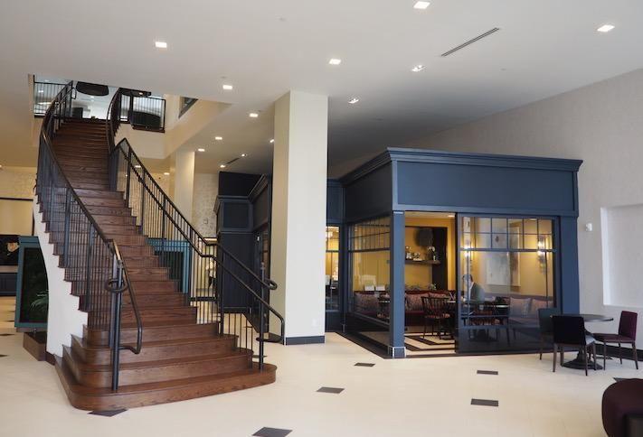 The lobby inside the Avec building on H Street.