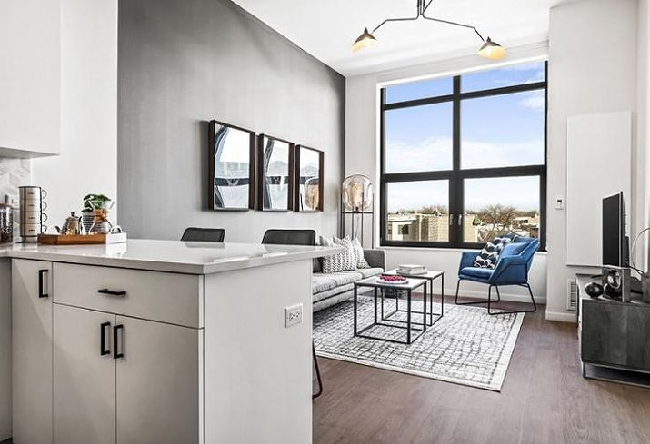 Logan One-Bed Model Living Space