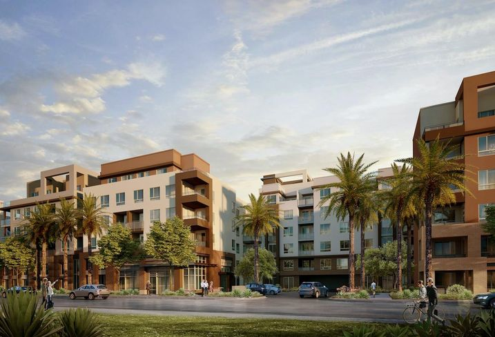 Rendering of MBK Rental Living's 344-unit luxury apartment project in Duarte