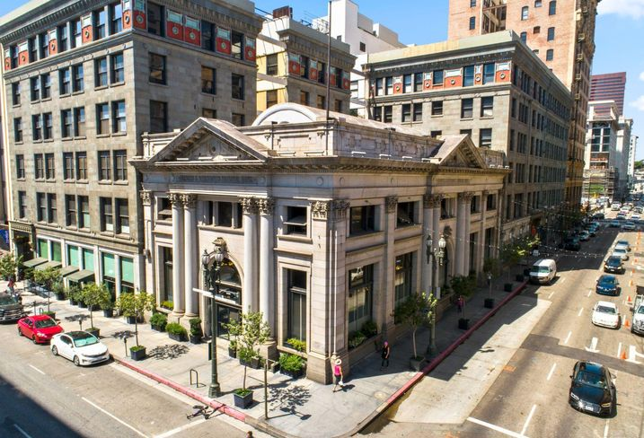 Farmers & Merchants Bank building at 401 South Main St. in downtown Los Angeles