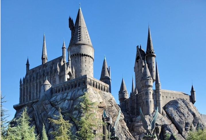 A castle at the Wizarding World of Harry Potter at Universal Studios Hollywood