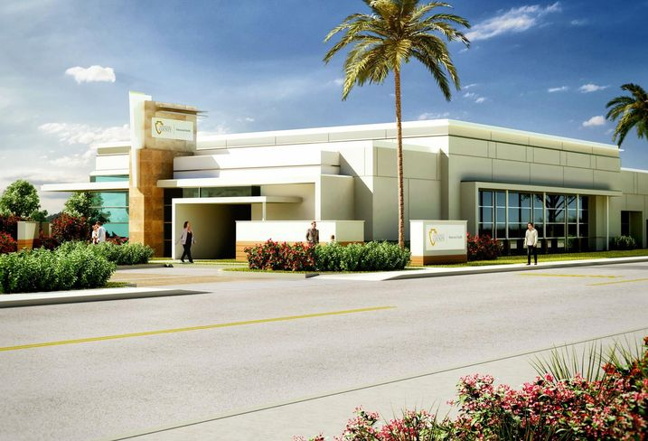 Rendering of a San Bernardino County medical office building developed by RevOZ Capital