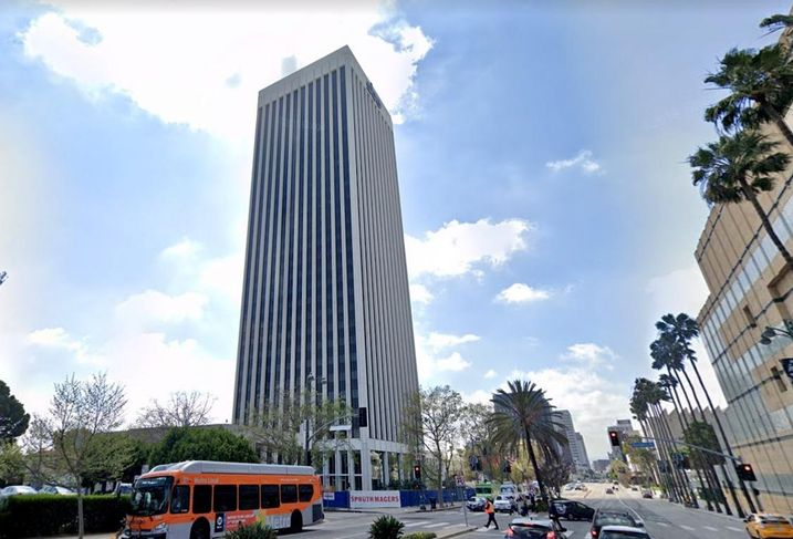 Office building at 5900 Wilshire Blvd. in the Miracle Mile neighborhood of Los Angeles