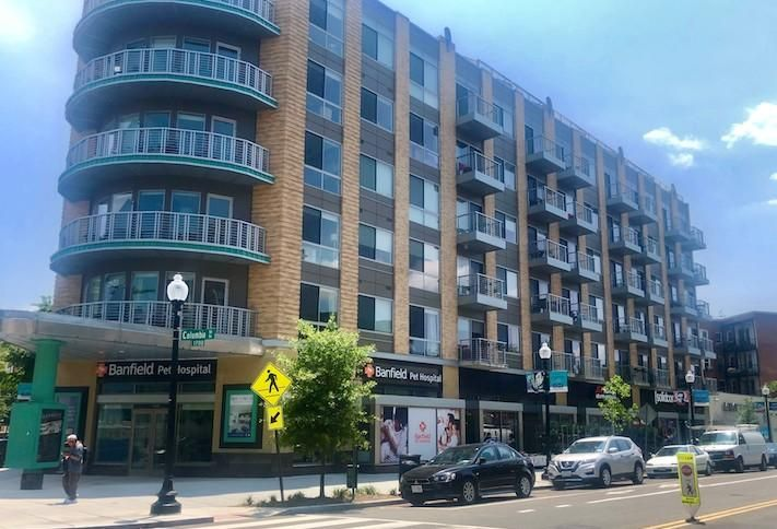 The ground-floor retail space at 1700 Columbia Road NW.
