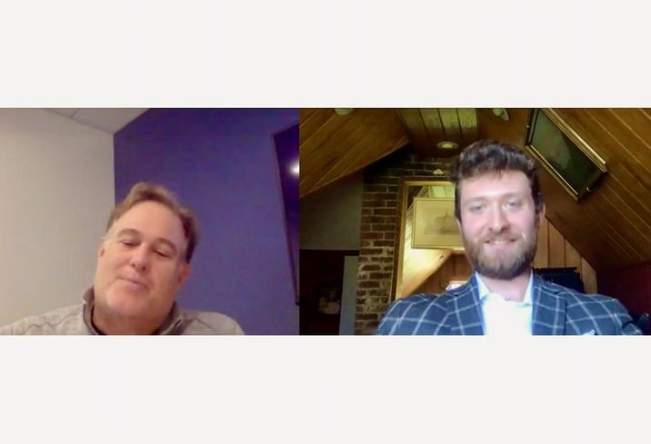Rising Realty CEO Chris Rising and Bisnow West Coast Vice President Michael Guimond discuss how to effectively manage a remote team during a Bisnow webinar on April 2.