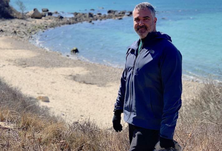 Brook Katzen on the beach on Martha's Vineyard.