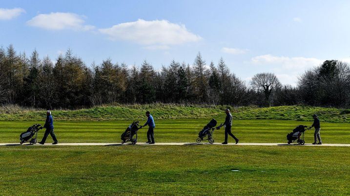 Social Distancing at Longbow Golf Course