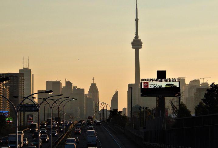 Dufferin Street bridge CN Tower