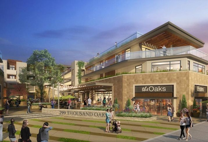 Rendering of 3.2-acre mixed use-development at 299 East Thousand Oaks Blvd. in Thousand Oaks