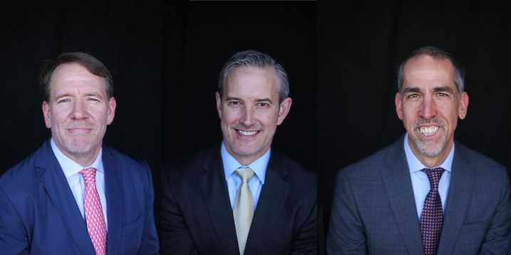 Landmark Real Estate Advisors Managing Principals Ty Janney, Eric Solem and Bob Elmer.