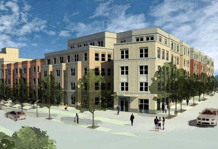 A rendering of the Spring Flats project at 1125 Spring Road.