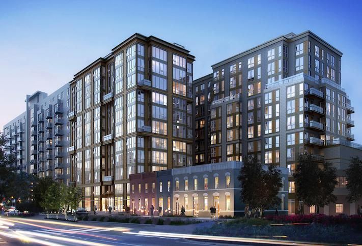 A rendering of the development Ronald D. Paul Cos. had planned at 1319 South Capitol St. SW.