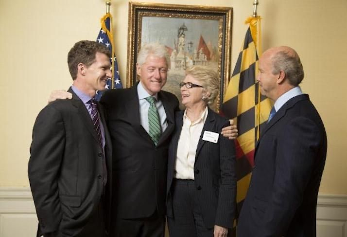 Willy Walker, former President Bill Clinton, former Time Magazine White House Photographer Diana Walker (Willy's mother) and former Rep. John Delaney.