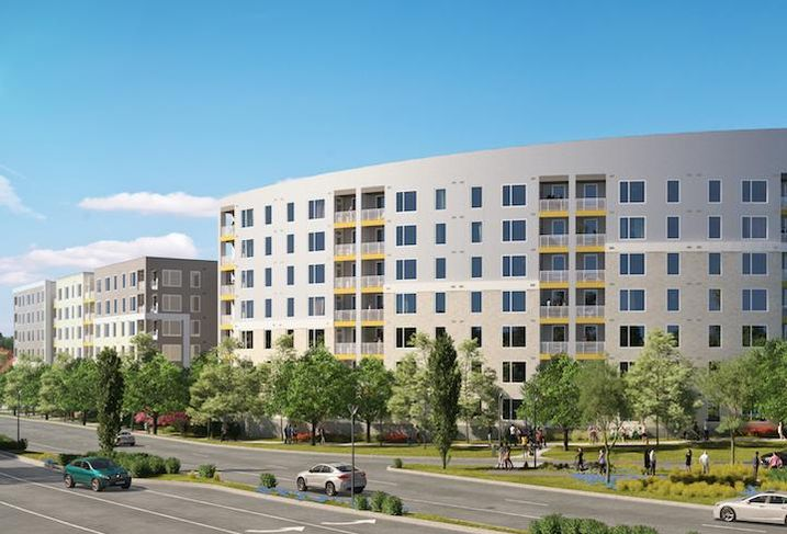 A rendering of Monday Properties' project at 2000 North Beauregard Street in Alexandria.