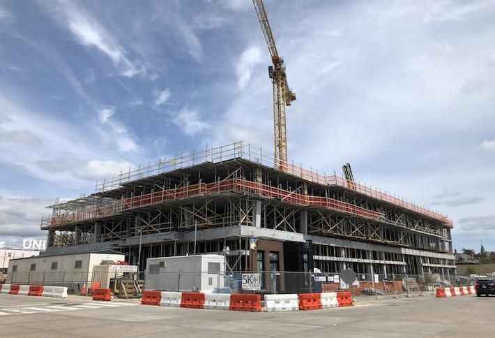 LCOR's under-construction project at 530 Morse St. NE, photographed April 25.