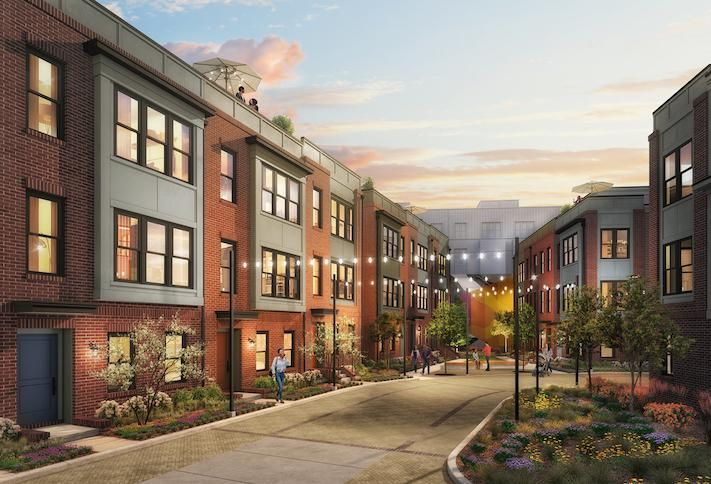 A rendering of the Riggs Park Place development in D.C.'s Fort Totten neighborhood.