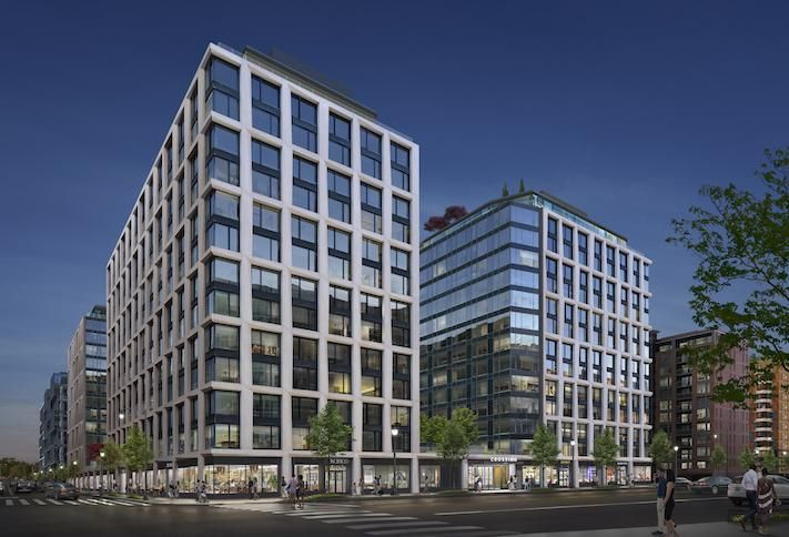 A rendering of Tishman Speyer's 818-unit Crossing development at 949 First St. SE.
