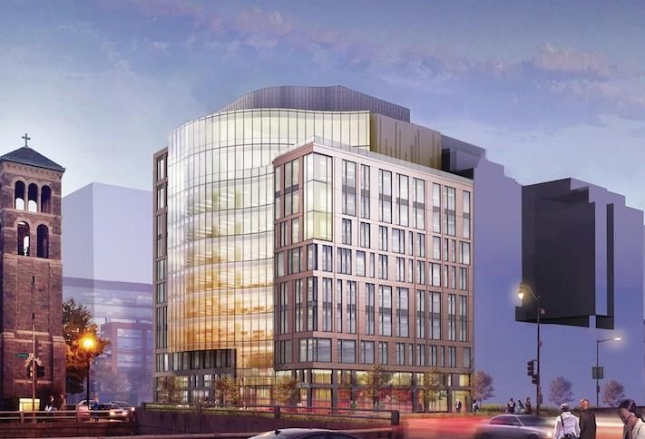 A rendering of the National Association of Broadcasters' new headquarters at One M St. SE.