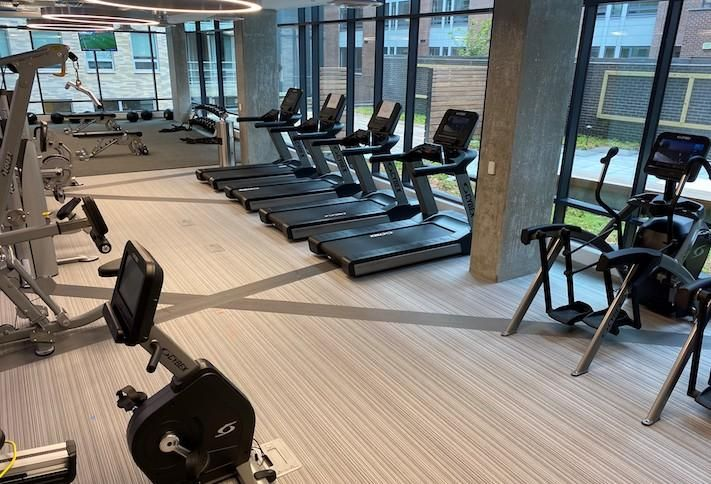 The fitness center at The Kelvin.