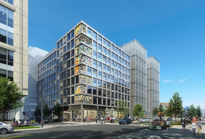 A rendering of the CitizenM hotel planned at 1222 First St. NE in NoMa.