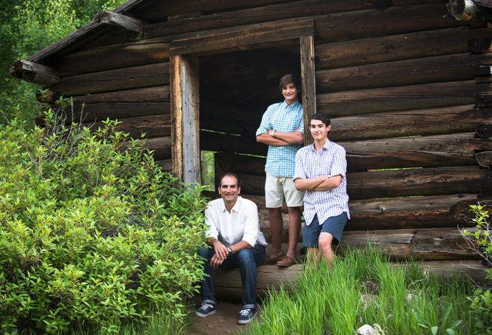 Transwestern's Nick Hernandez with sons Jack and Hunter in Colorado summer 2015