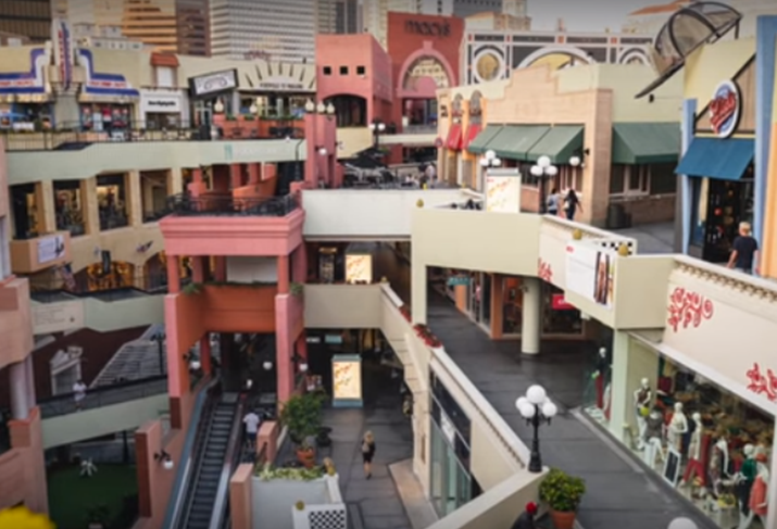Mall photo from Allen Matkins/UCLA Anderson Forecast video