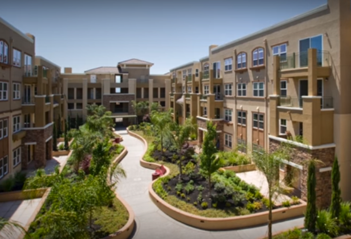 Multifamily complex still from Allen Matkins / UCLA Anderson Forecast video