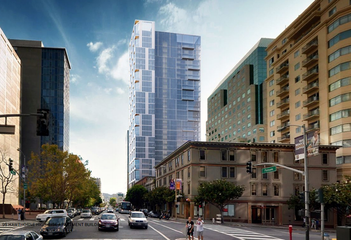 John Hancock and Trammell Crow proposed residential building at 95 Hawthorne, San Francisco credit: SF Planning