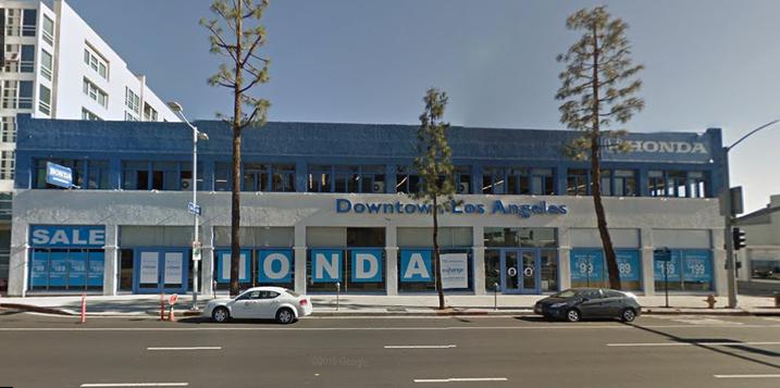 Honda Dealership Los Angeles >> Downtown Honda Dealership To Get New Digs
