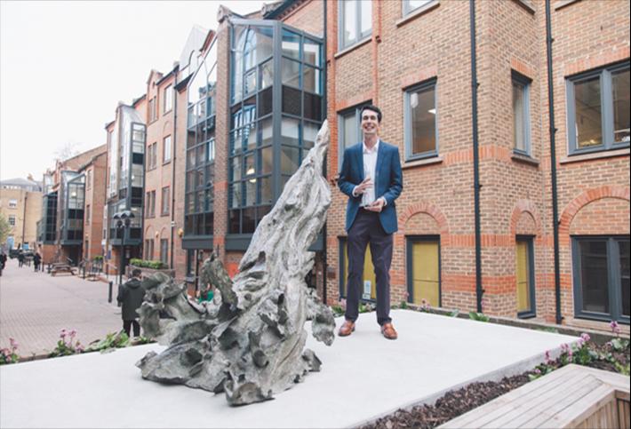 Alex J Wood, the artist who won the Picton Art Prize, at Picton's Angel Gate Estate