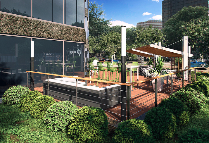 The former Oxy tower owned by Encore Enterprises and New York Life and leased by Stream is getting a face lift worth about $9M. Stream brought on Entos Design to execute the capital enhancements on the newly rebranded Pinnacle Tower which commenced this week.