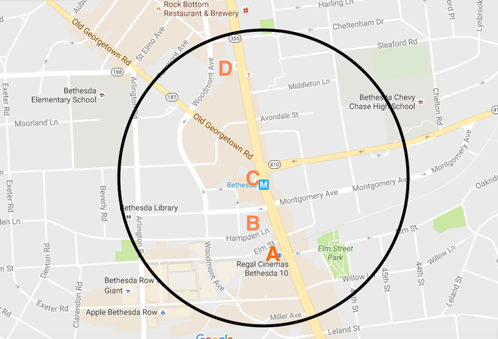 Possible Marriott sites Downtown Bethesda
