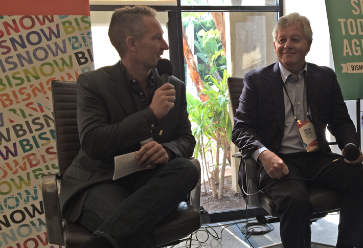 Robert Green, right, with David McCullough, principal at David McCullough Landscape Architecture, at San Diego Hotel Development Takeoff last summer.
