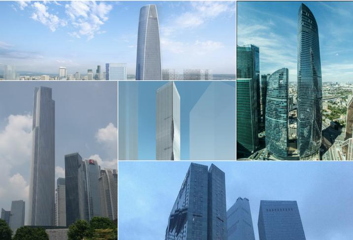 2016 skyscraper building collage