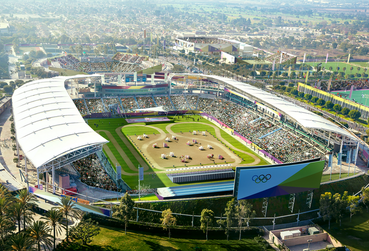 Rendering of Olympics Venue, L.A.
