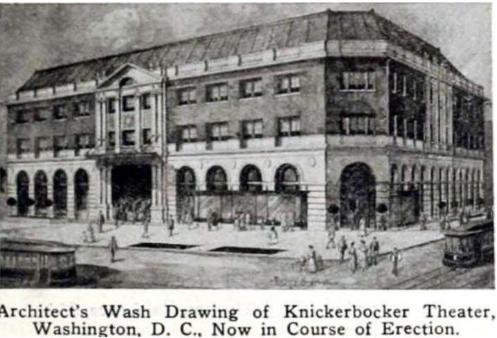 Knickerbocker Theater 1917 drawing