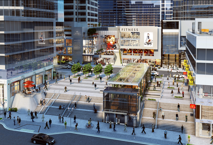 Rosslyn Metro Center rendering