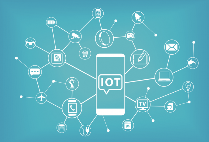 A rendering of how a smartphone is part of the Internet of Things