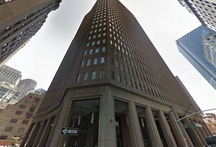 The office building at 85 Broad St. in New York, owned by Ivanhoé Cambridge.