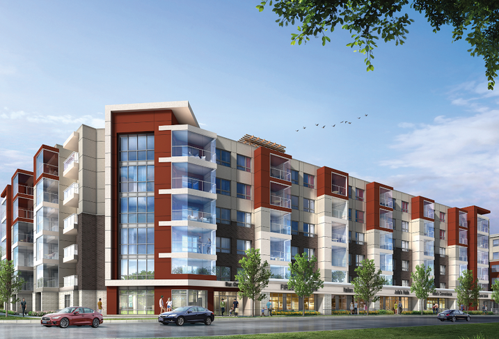 A proposed six-storey, wood-frame project in Cornell.